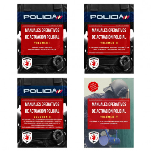 Pack Manuales Operativos de Actuación Policial - Volúmenes I , II , III y IV